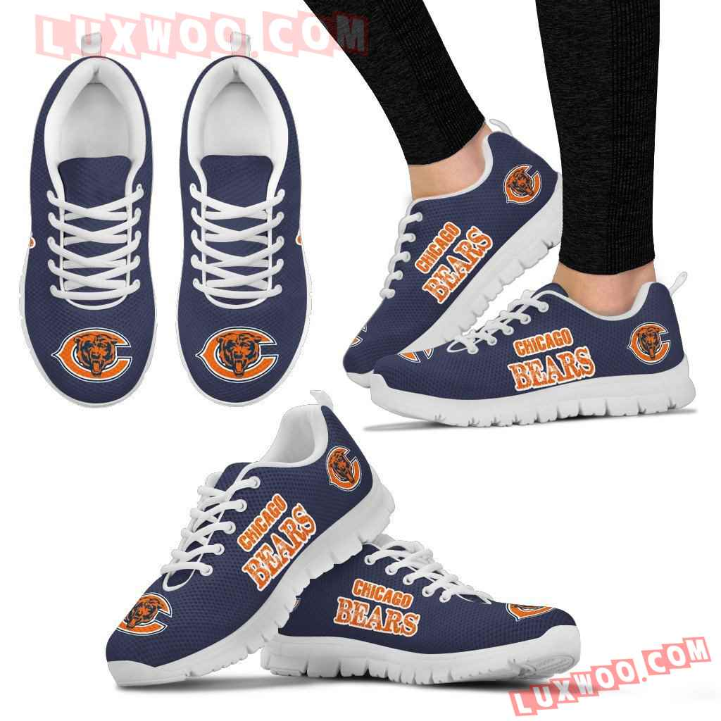 Nfl Chicago Bears Low Top Shoes Sneaker Sport V2