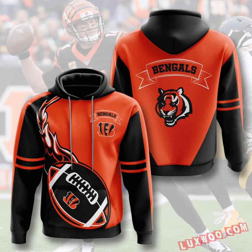 Nfl Cincinnati Bengals 3d Hoodie V14