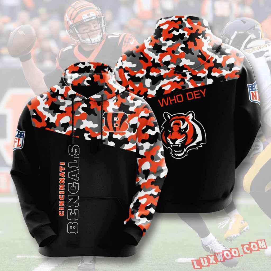 Nfl Cincinnati Bengals 3d Hoodie V15