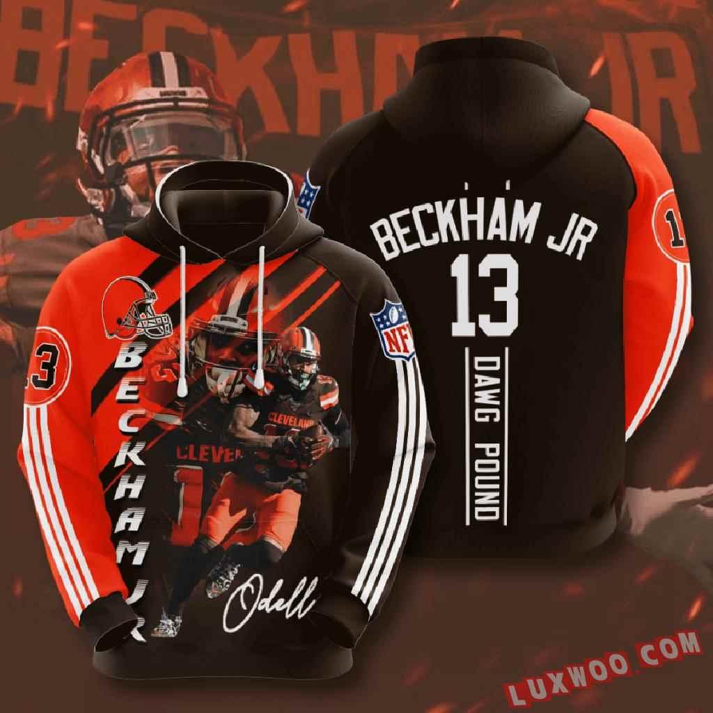Nfl Cleveland Browns 3d Hoodie V4