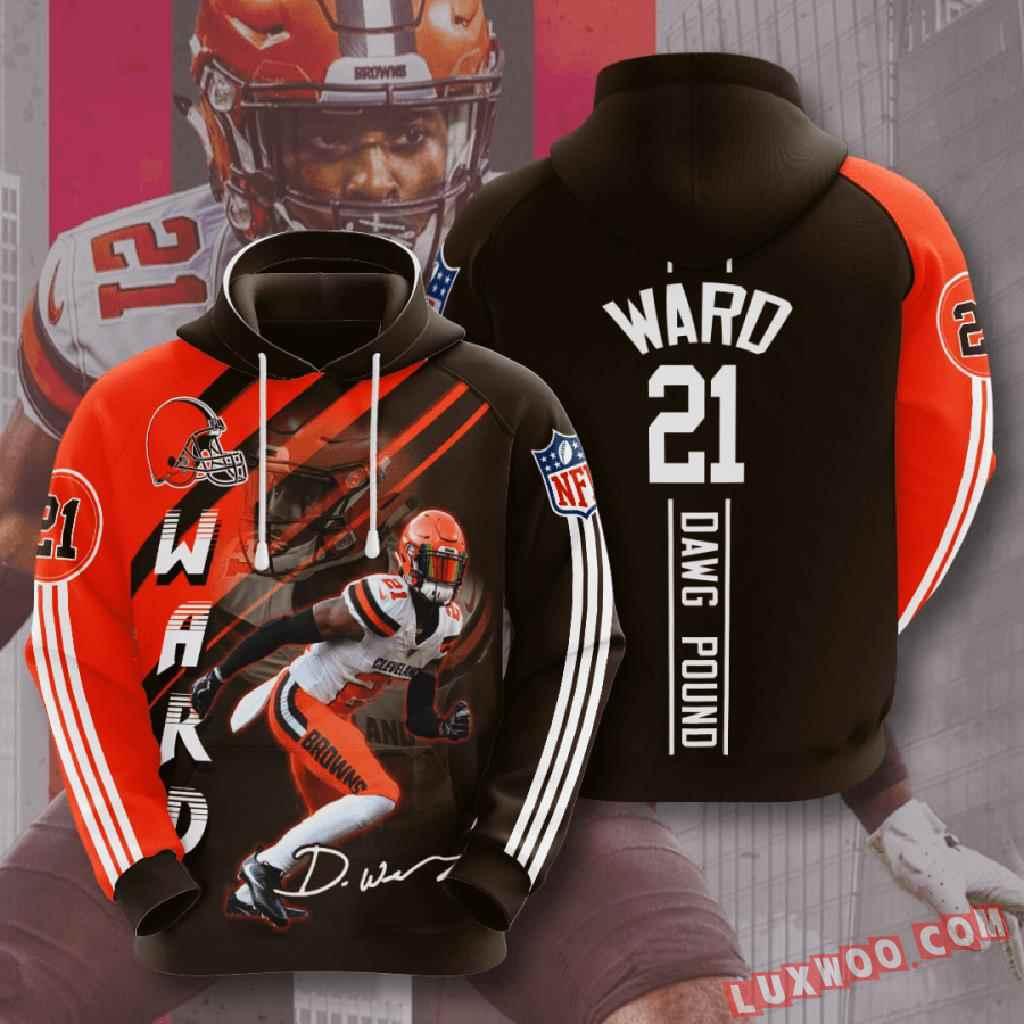 Nfl Cleveland Browns 3d Hoodie V6