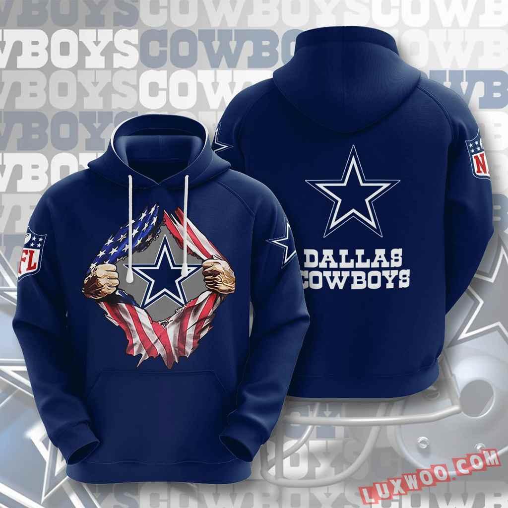 Nfl Dallas Cowboys 3d Hoodie V1