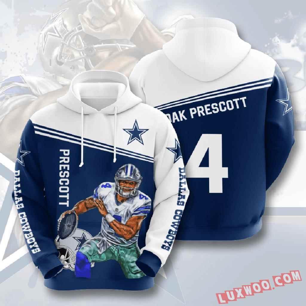 Nfl Dallas Cowboys 3d Hoodie V14