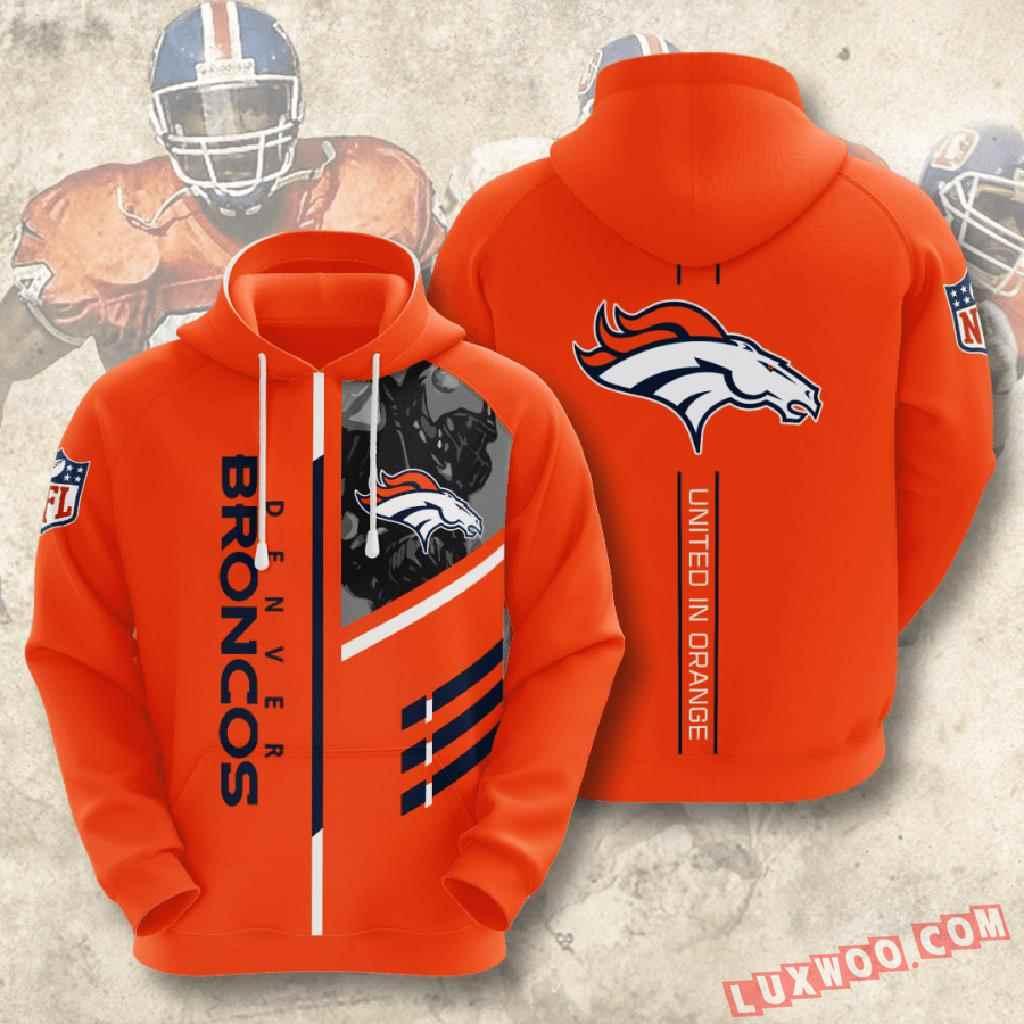Nfl Denver Broncos 3d Hoodie V2