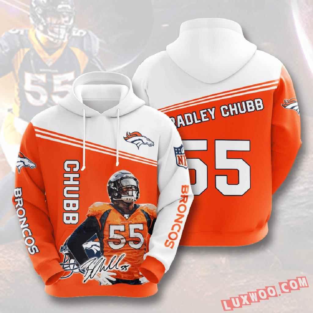 Nfl Denver Broncos 3d Hoodie V6