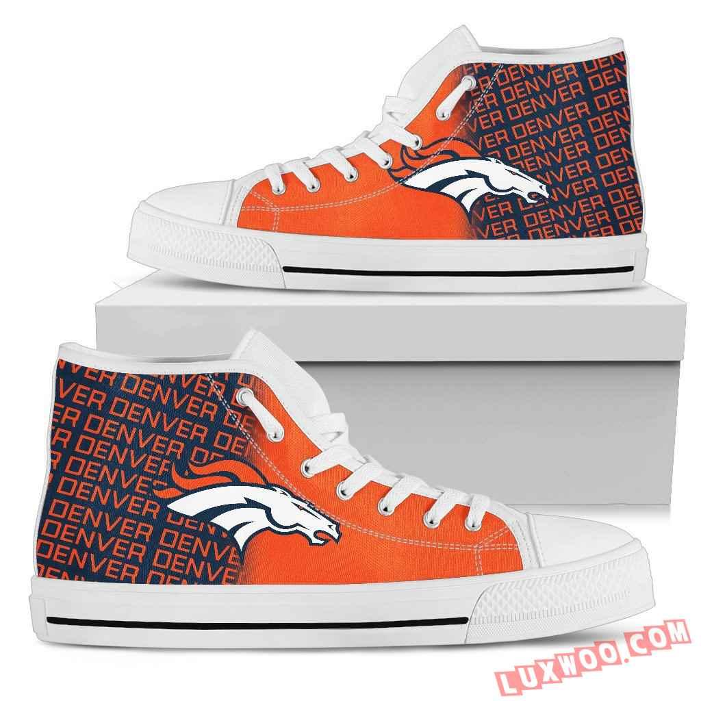 Nfl Denver Broncos High Top Shoes