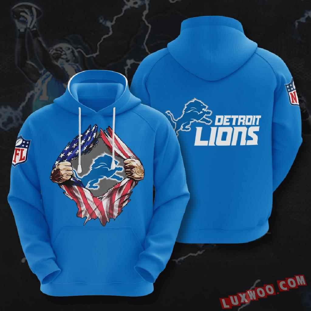 Nfl Detroit Lions 3d Hoodie V1