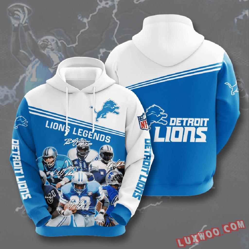 Nfl Detroit Lions 3d Hoodie V10