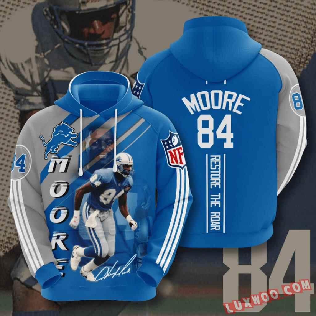 Nfl Detroit Lions 3d Hoodie V14