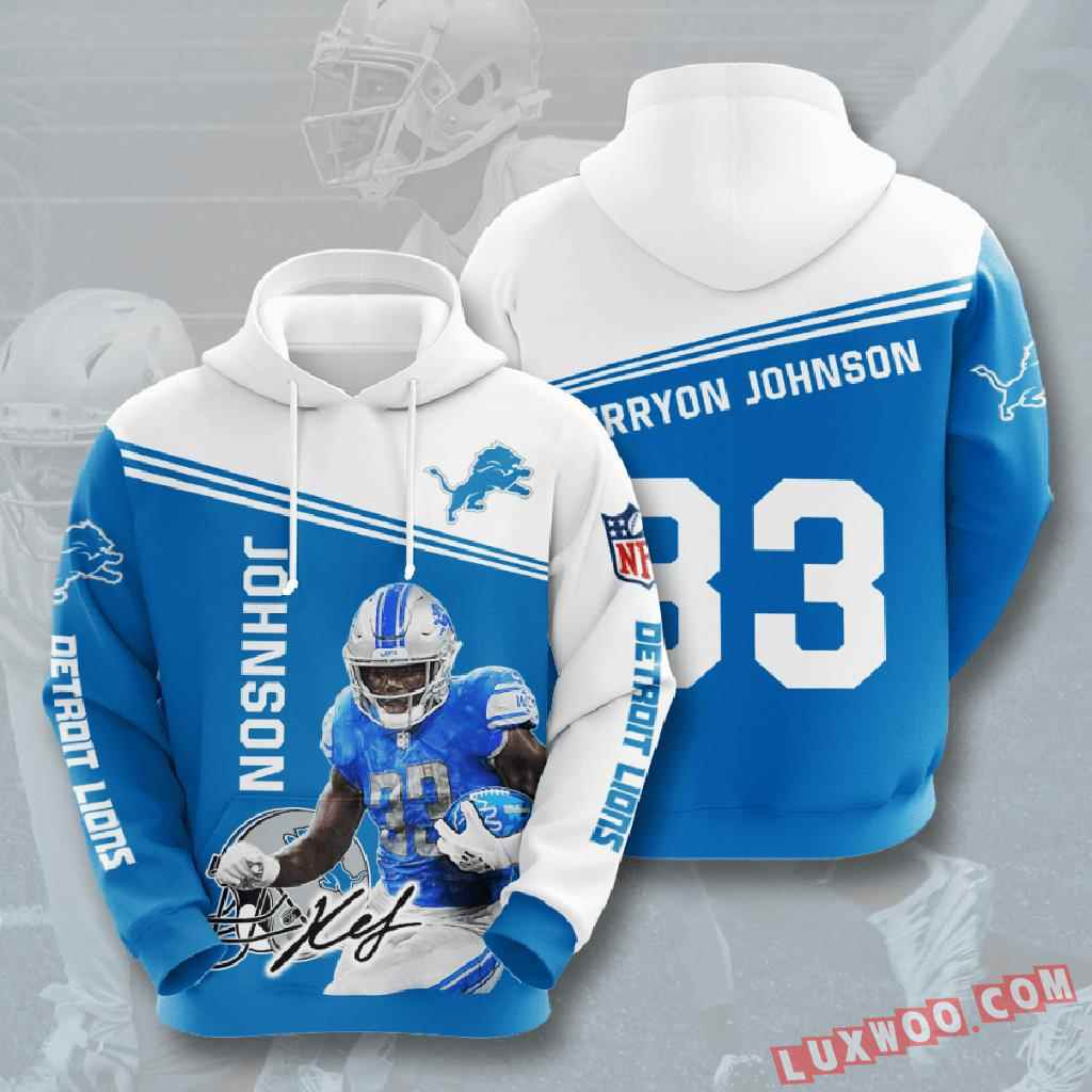 Nfl Detroit Lions 3d Hoodie V9
