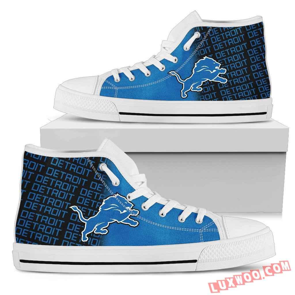 Nfl Detroit Lions High Top Shoes