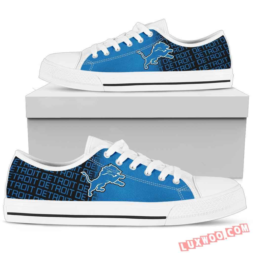 Nfl Detroit Lions Low Top Shoes