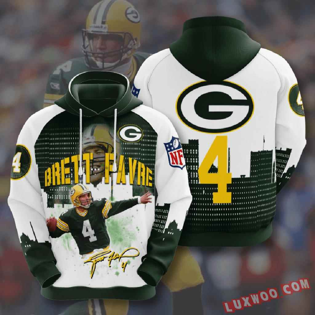 Nfl Green Bay Packers 3d Hoodie V12