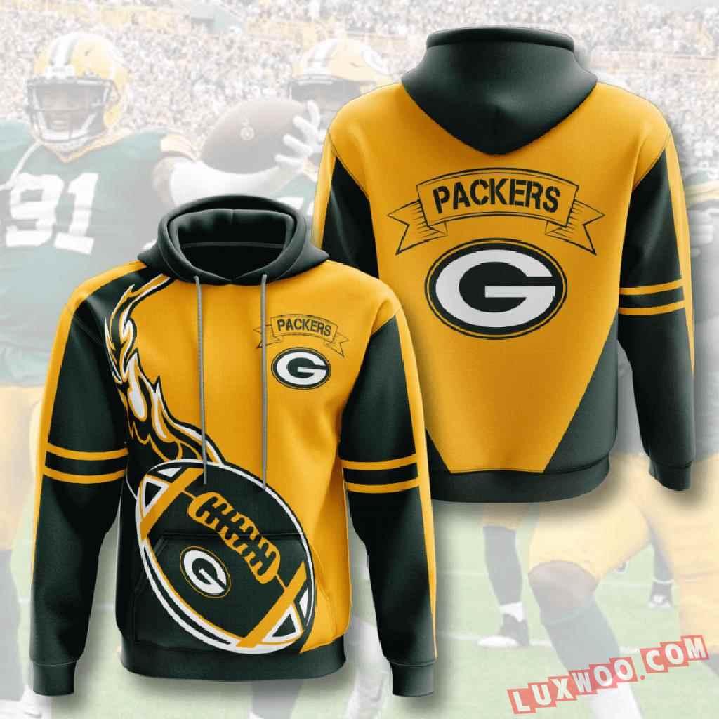 Nfl Green Bay Packers 3d Hoodie V4