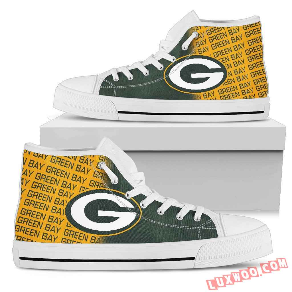 Nfl Green Bay Packers High Top Shoes