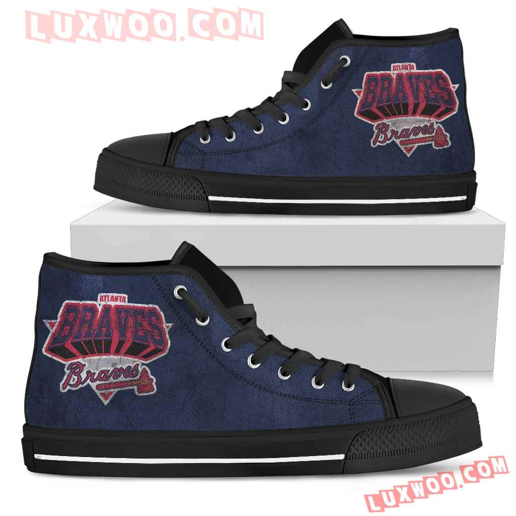 Atlanta Braves High Top Shoes