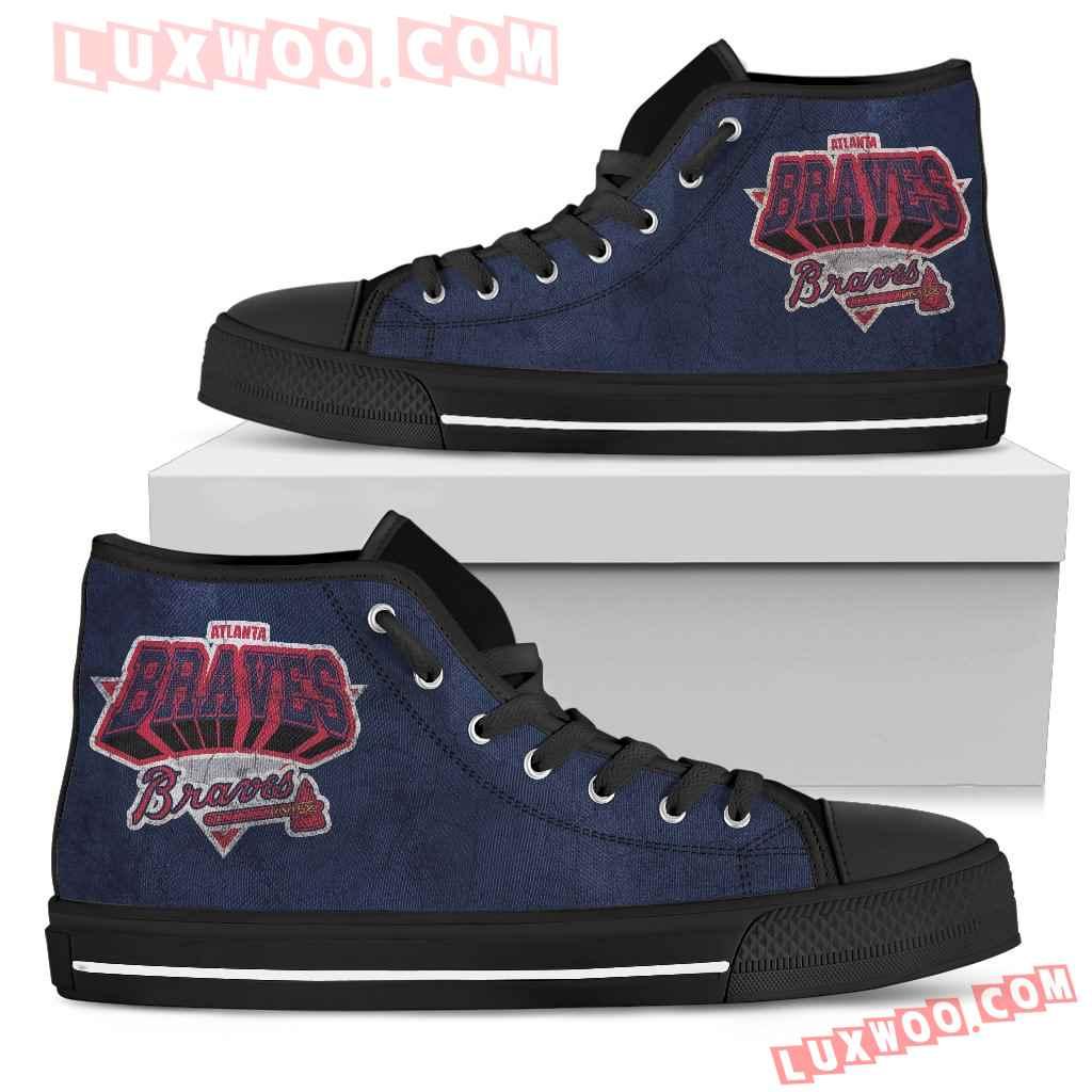 Atlanta Braves High Top Shoes