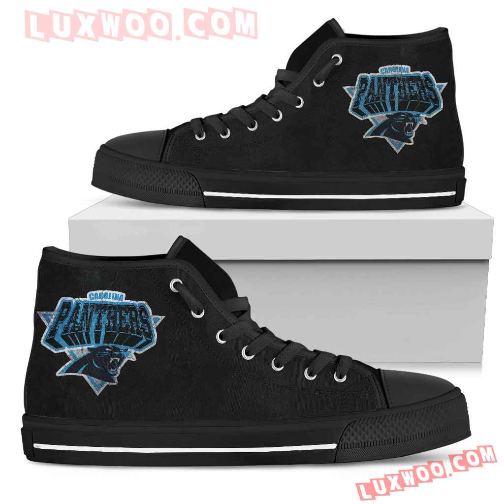 Carolina Panthers High Top Shoes
