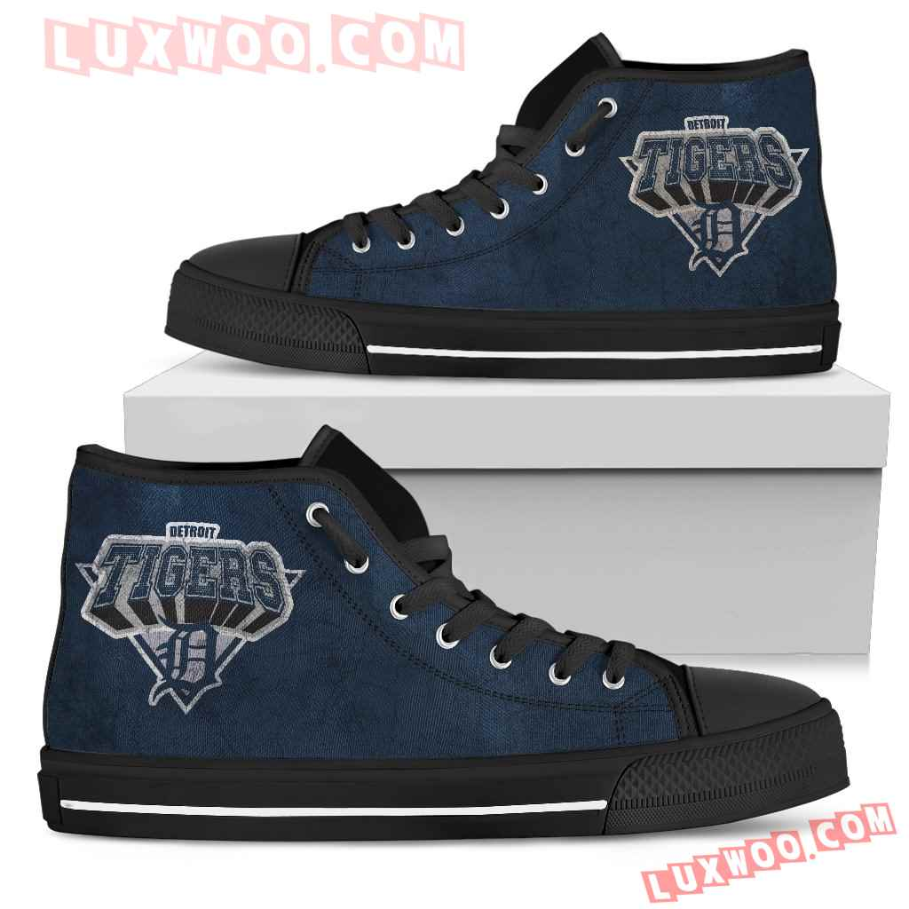 Detroit Tigers High Top Shoes