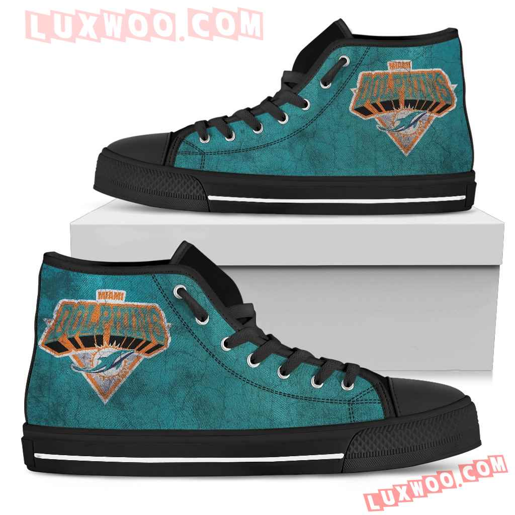 Miami Dolphins High Top Shoes