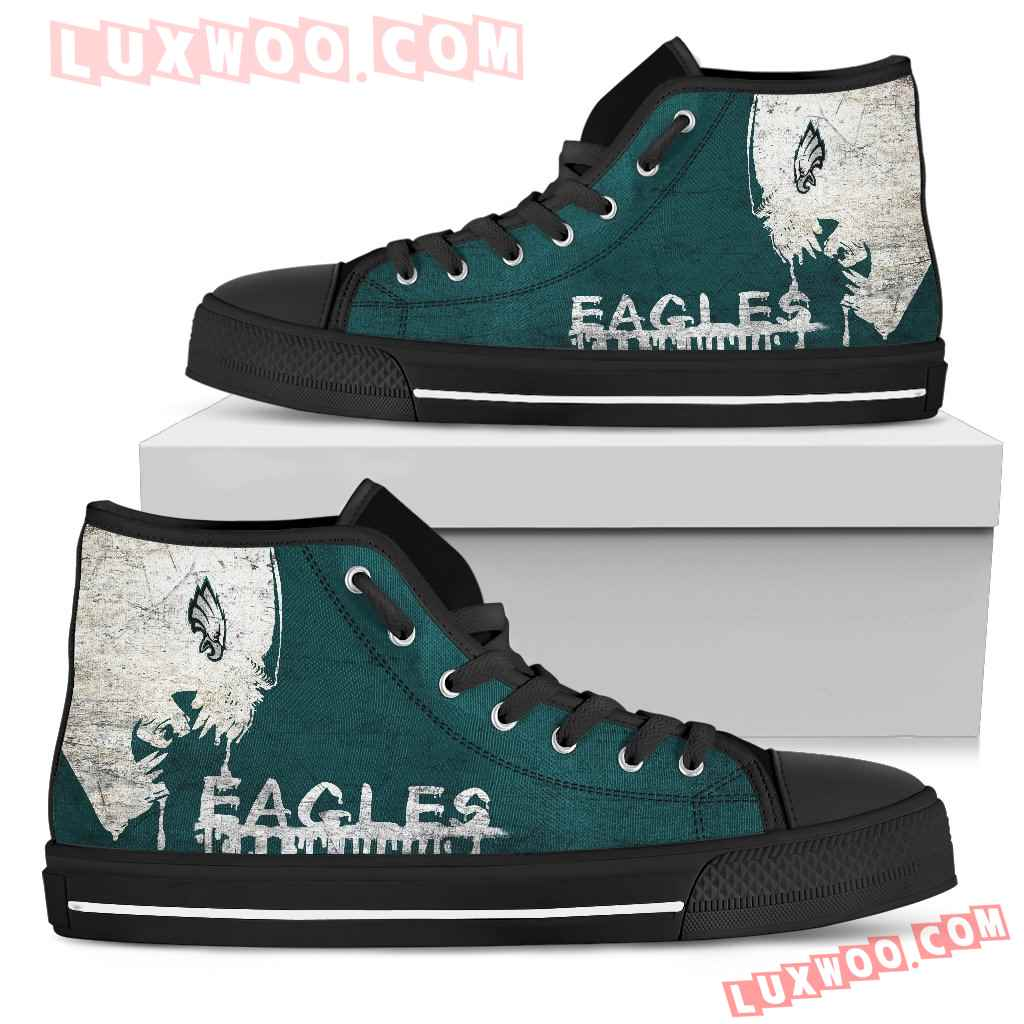 Alien Movie Philadelphia Eagles High Top Shoes
