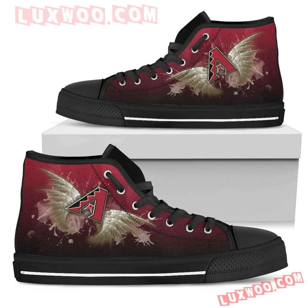 Angel Wings Arizona Diamondbacks High Top Shoes