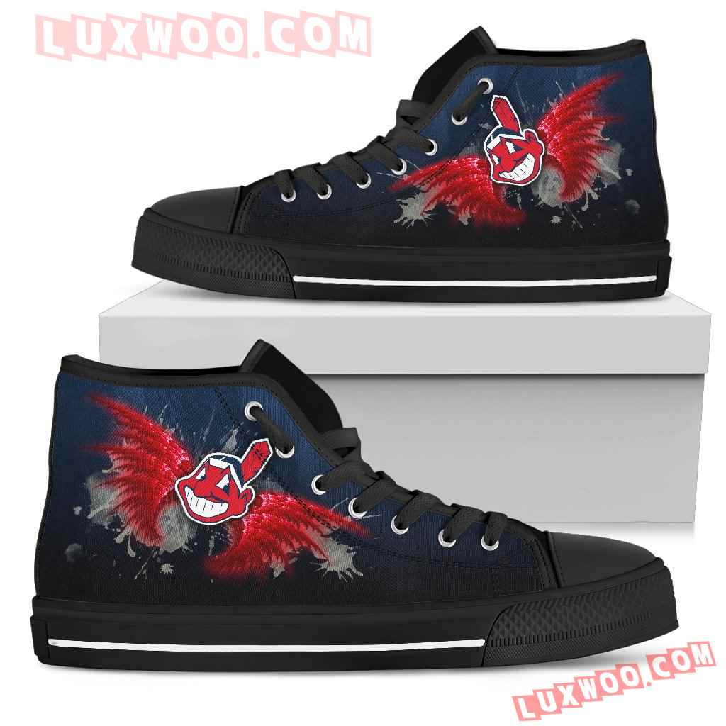 Angel Wings Cleveland Indians High Top Shoes