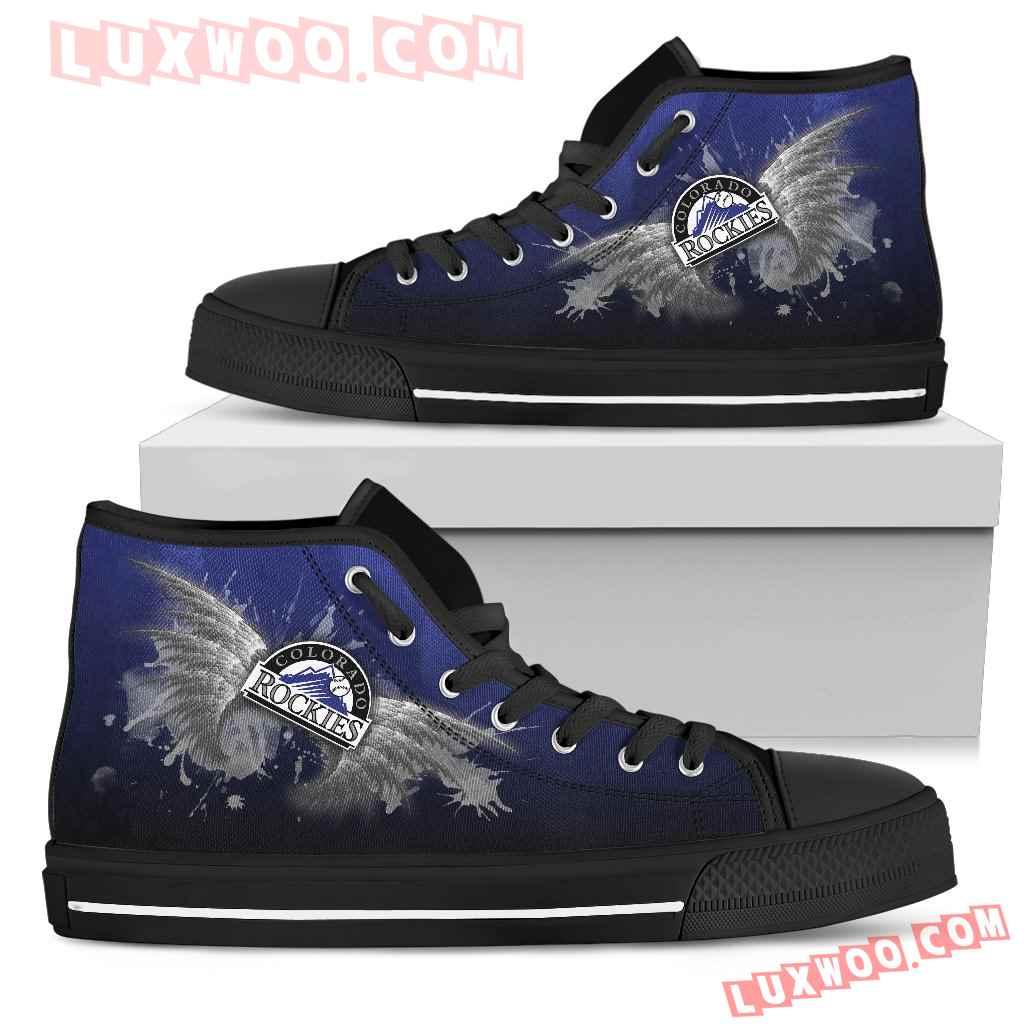 Angel Wings Colorado Rockies High Top Shoes