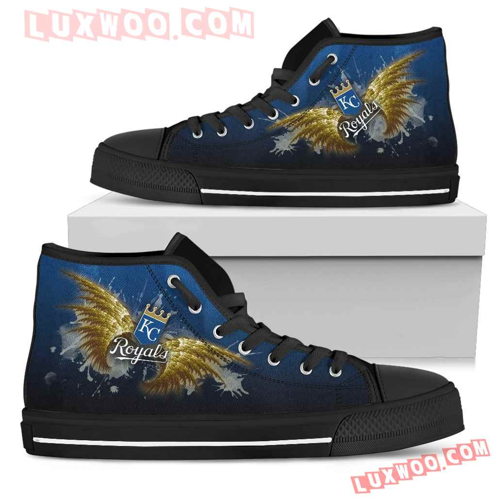 Angel Wings Kansas City Royals High Top Shoes