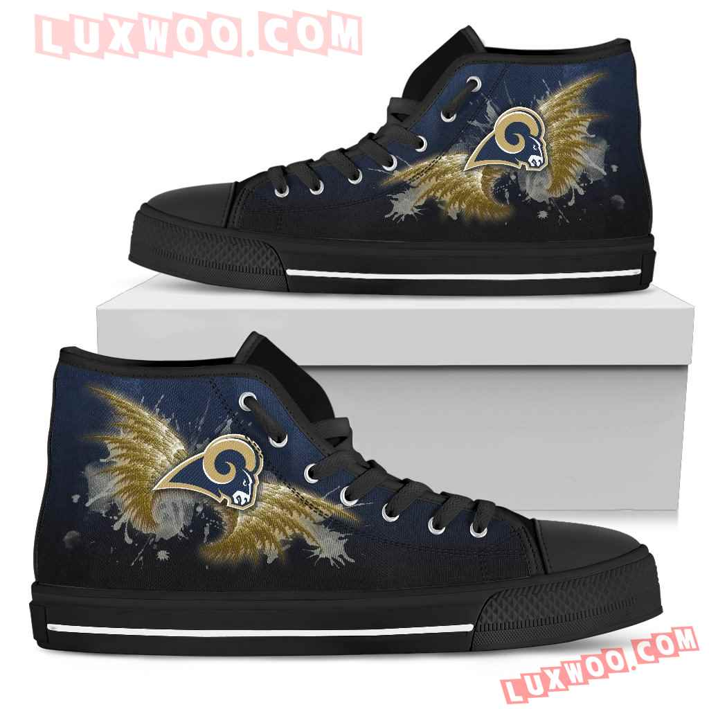 Angel Wings Los Angeles Rams High Top Shoes