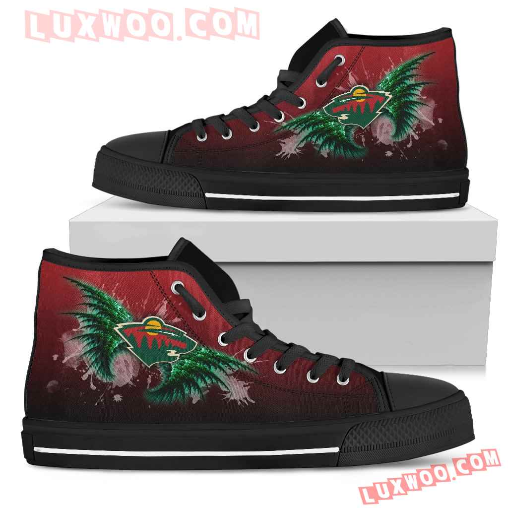Angel Wings Minnesota Wild High Top Shoes