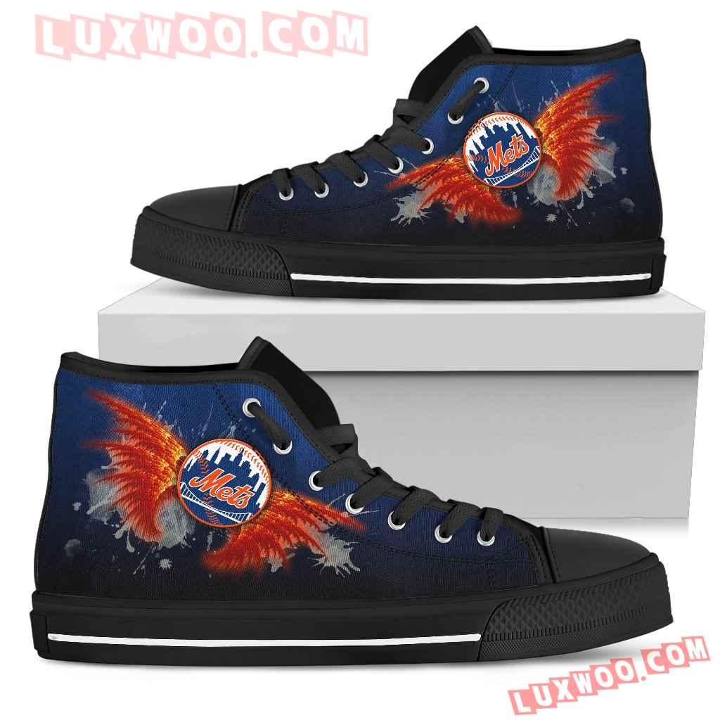 Angel Wings New York Mets High Top Shoes