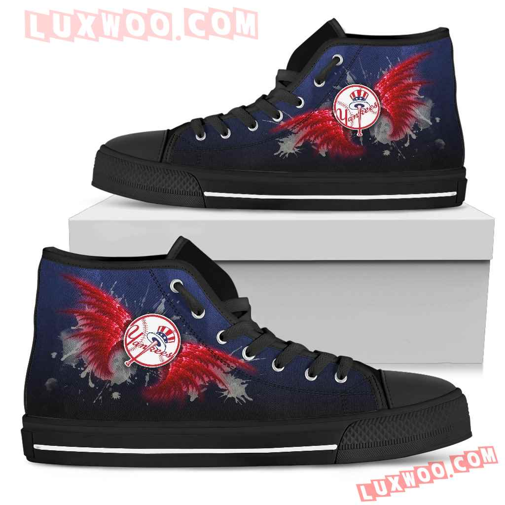 Angel Wings New York Yankees High Top Shoes
