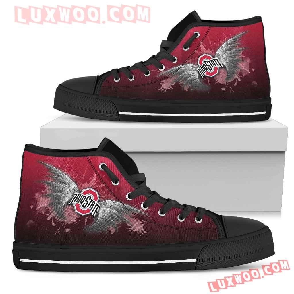 Angel Wings Ohio State Buckeyes High Top Shoes