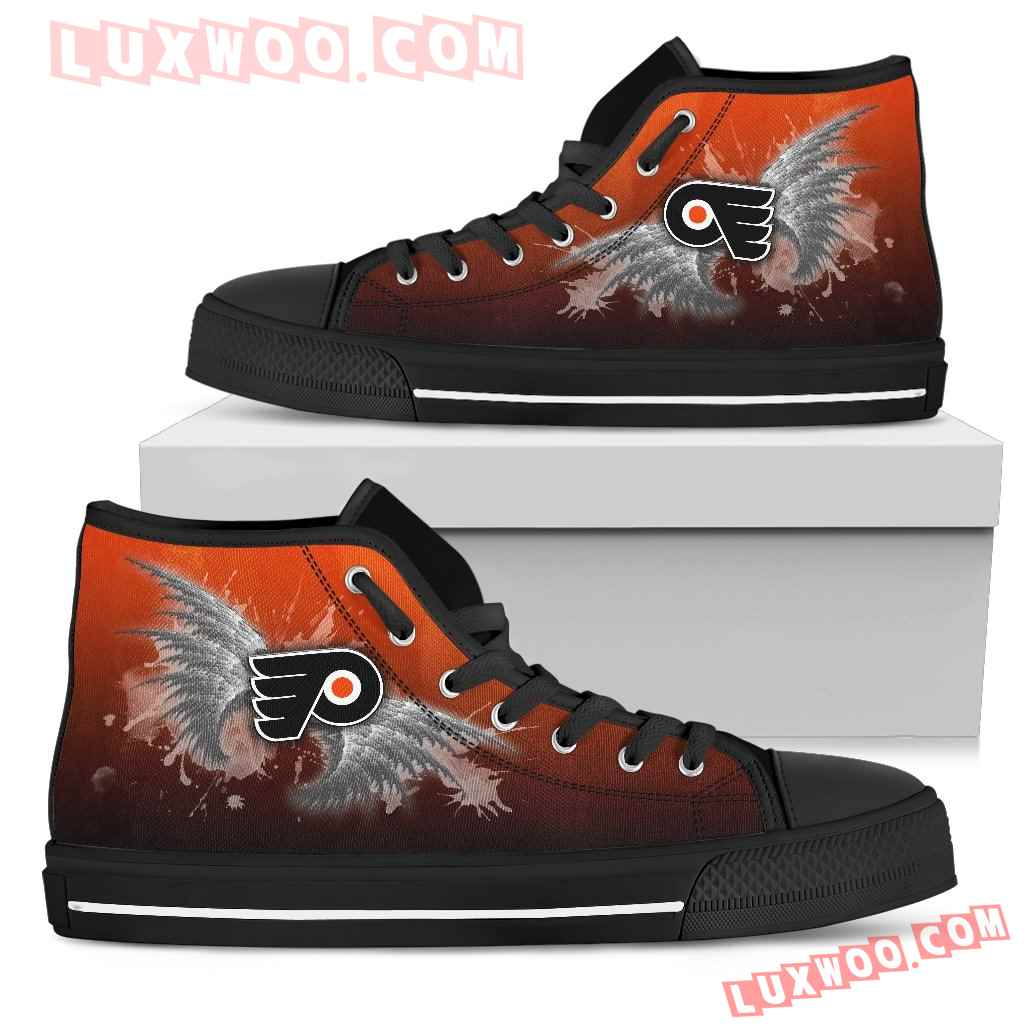 Angel Wings Philadelphia Flyers High Top Shoes