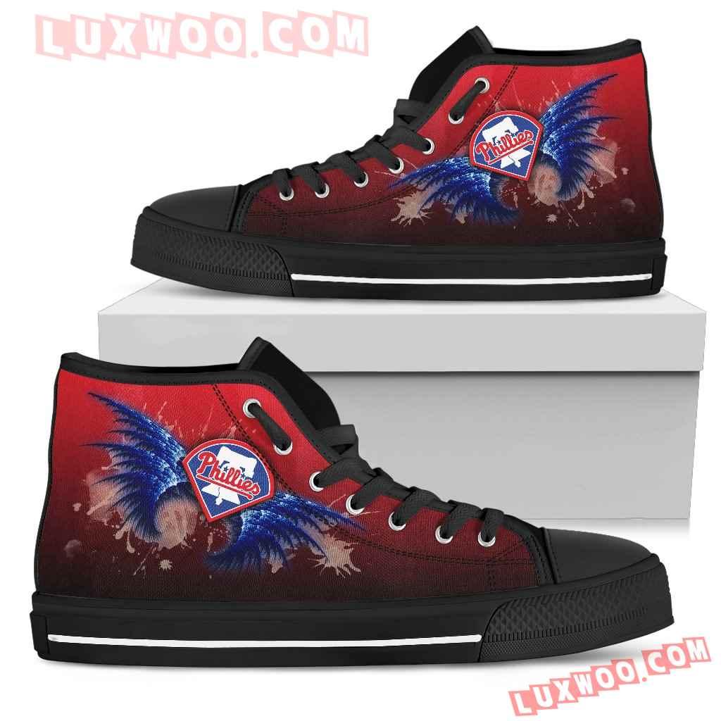 Angel Wings Philadelphia Phillies High Top Shoes
