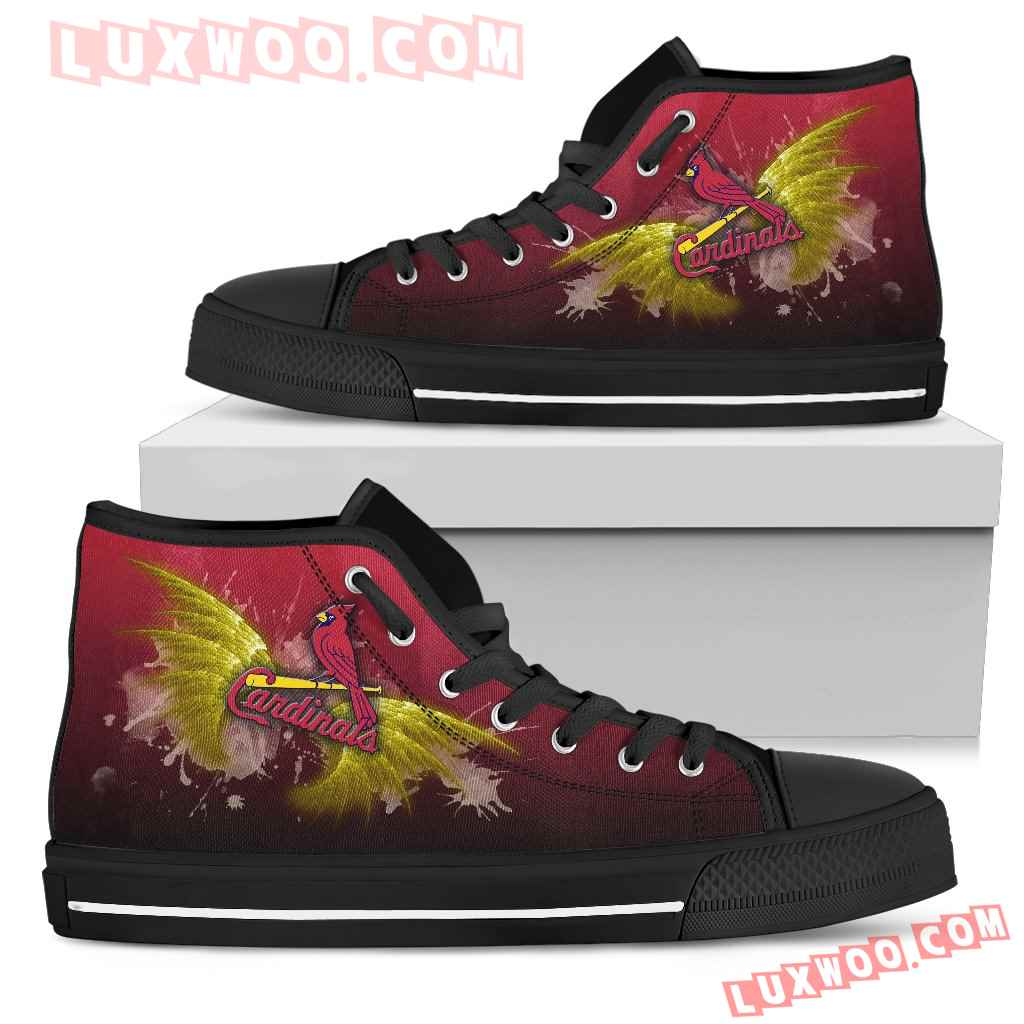 Angel Wings St Louis Cardinals High Top Shoes
