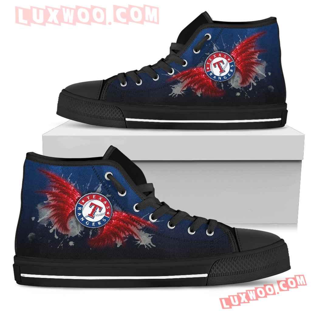 Angel Wings Texas Rangers High Top Shoes
