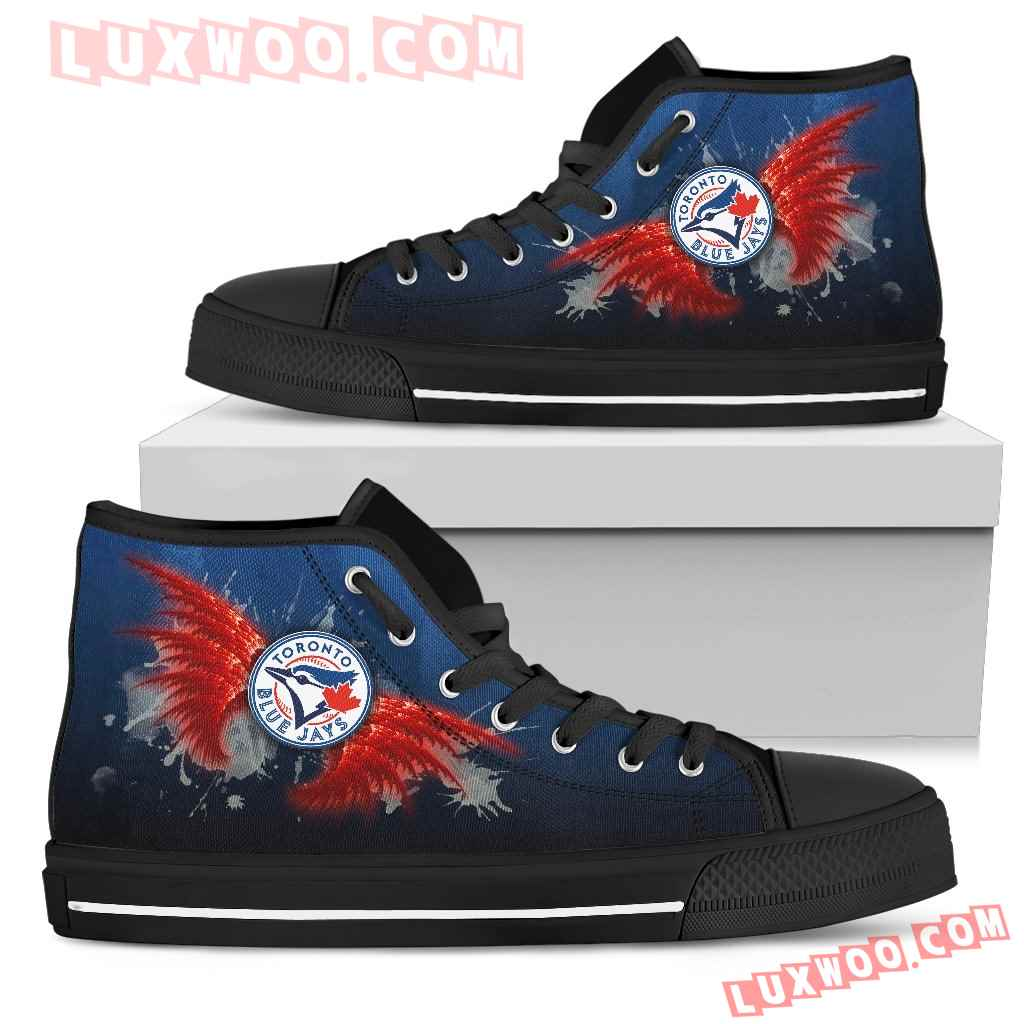 Angel Wings Toronto Blue Jays High Top Shoes