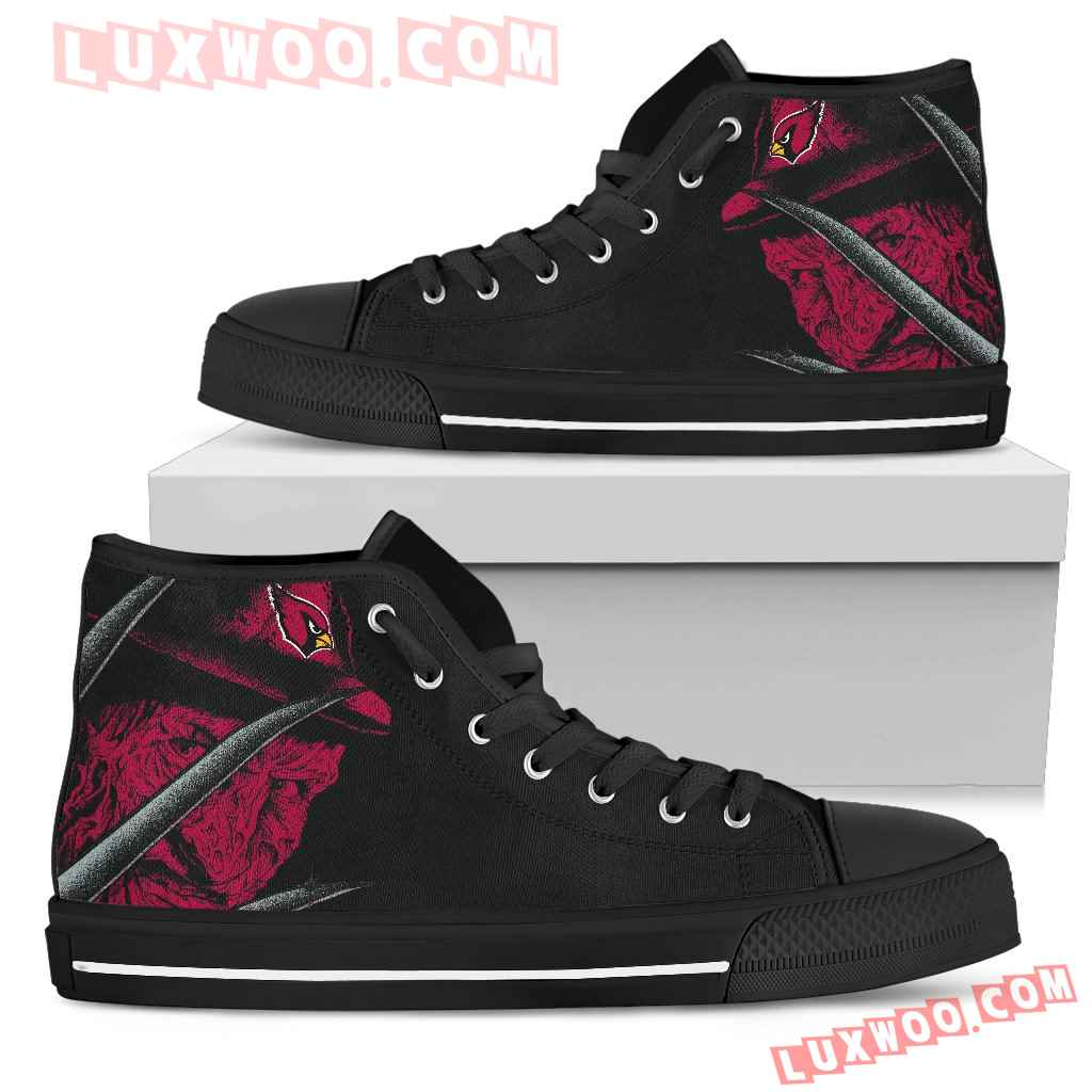 Arizona Cardinals Nightmare Freddy Colorful High Top Shoes