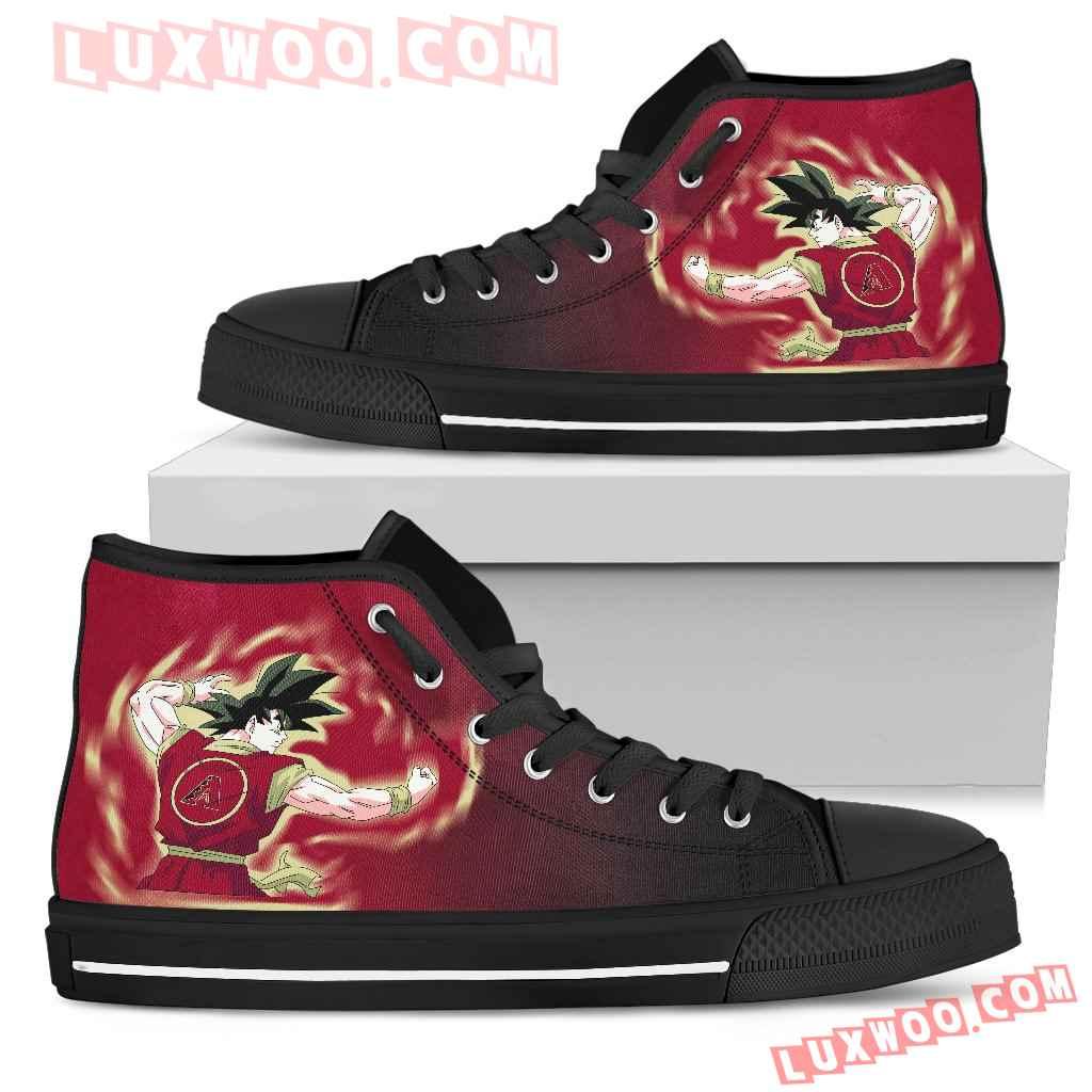 Arizona Diamondbacks Son Goku Saiyan Power High Top Shoes