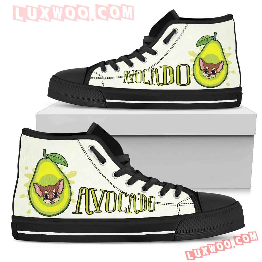 Avocado Chihuahua High Top Shoes