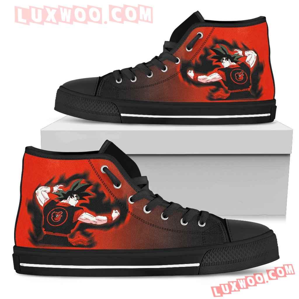 Baltimore Orioles Son Goku Saiyan Power High Top Shoes