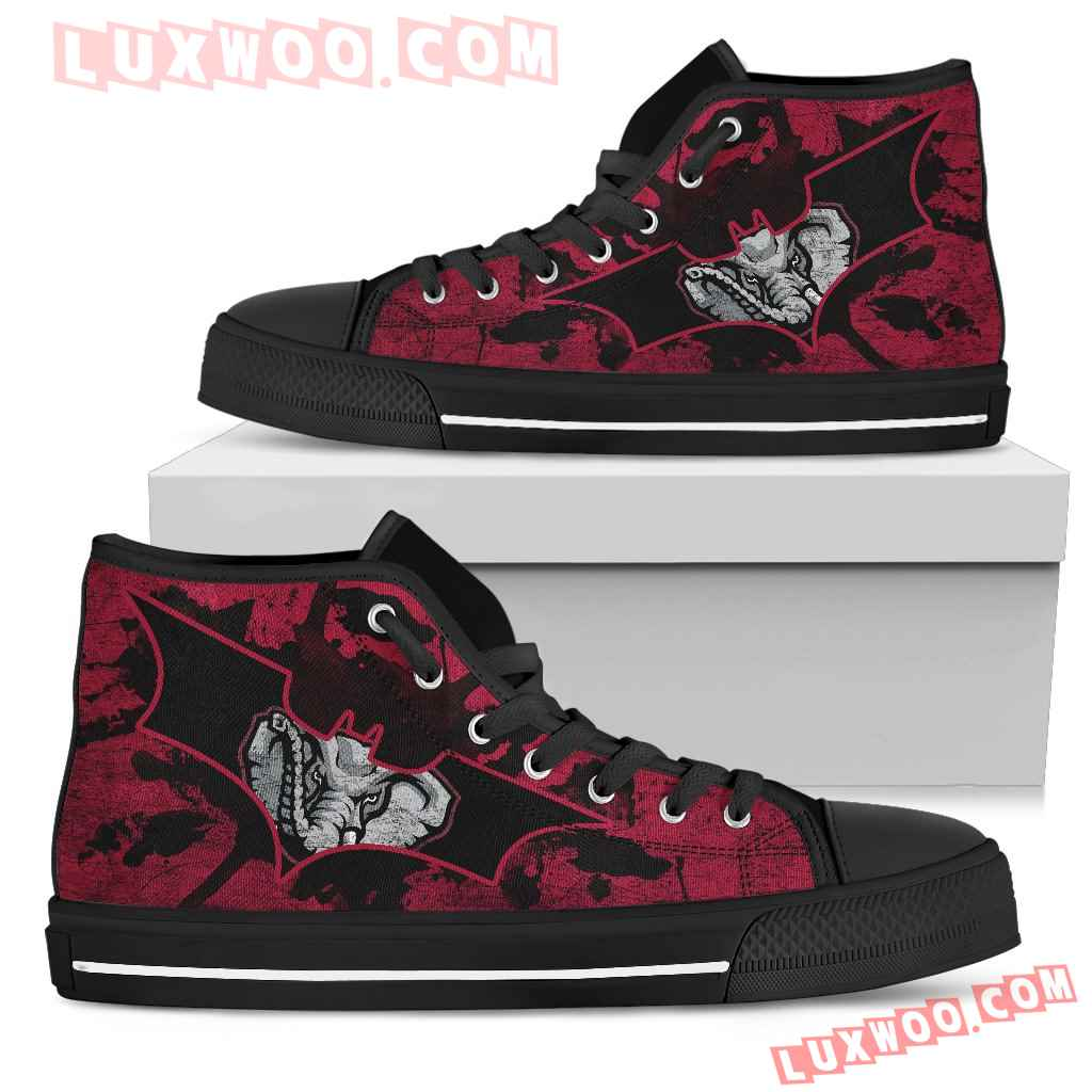 Batman Style Alabama Crimson Tide High Top Shoes