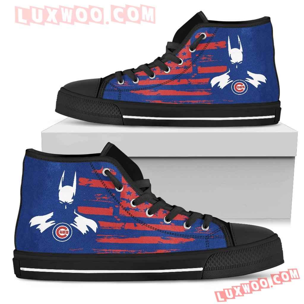 Batman Style Big Chicago Cubs High Top Shoes