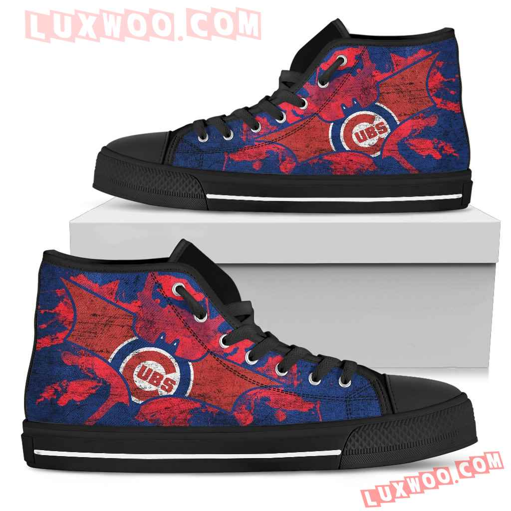 Batman Style Chicago Cubs High Top Shoes