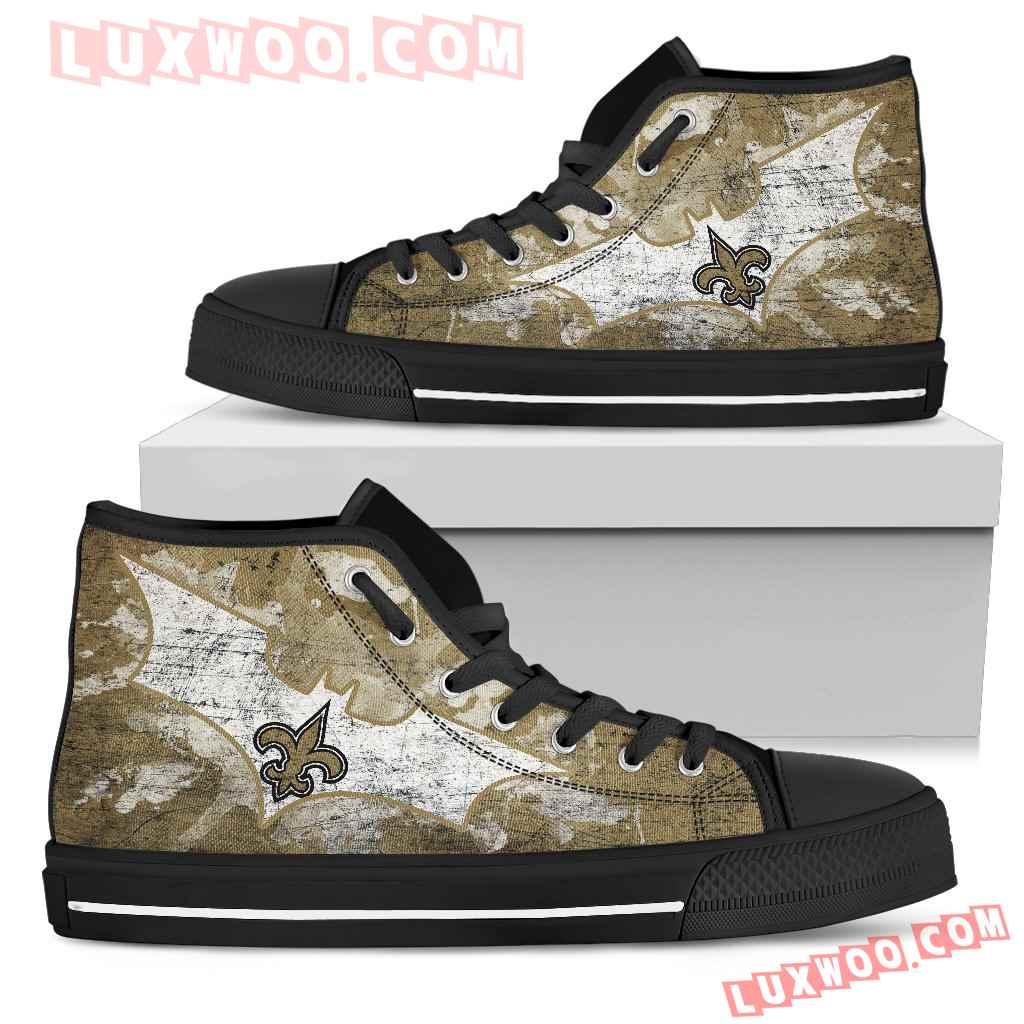 Batman Style New Orleans Saints High Top Shoes