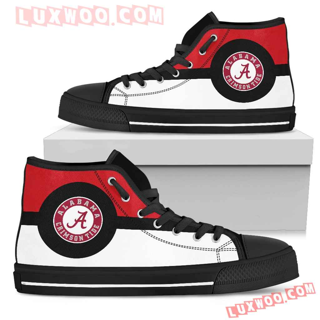 Bright Colours Open Sections Great Logo Alabama Crimson Tide High Top Shoes
