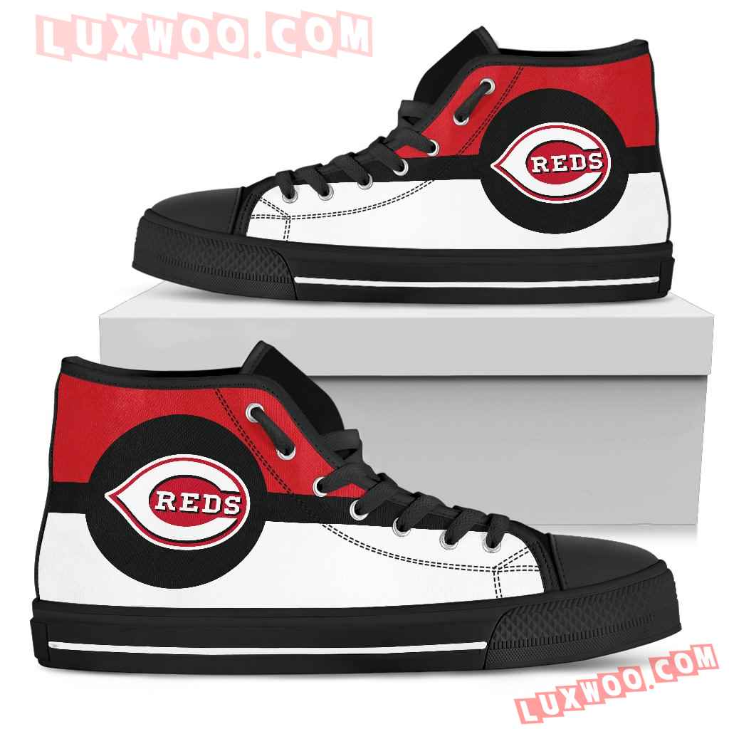 Bright Colours Open Sections Great Logo Cincinnati Reds High Top Shoes