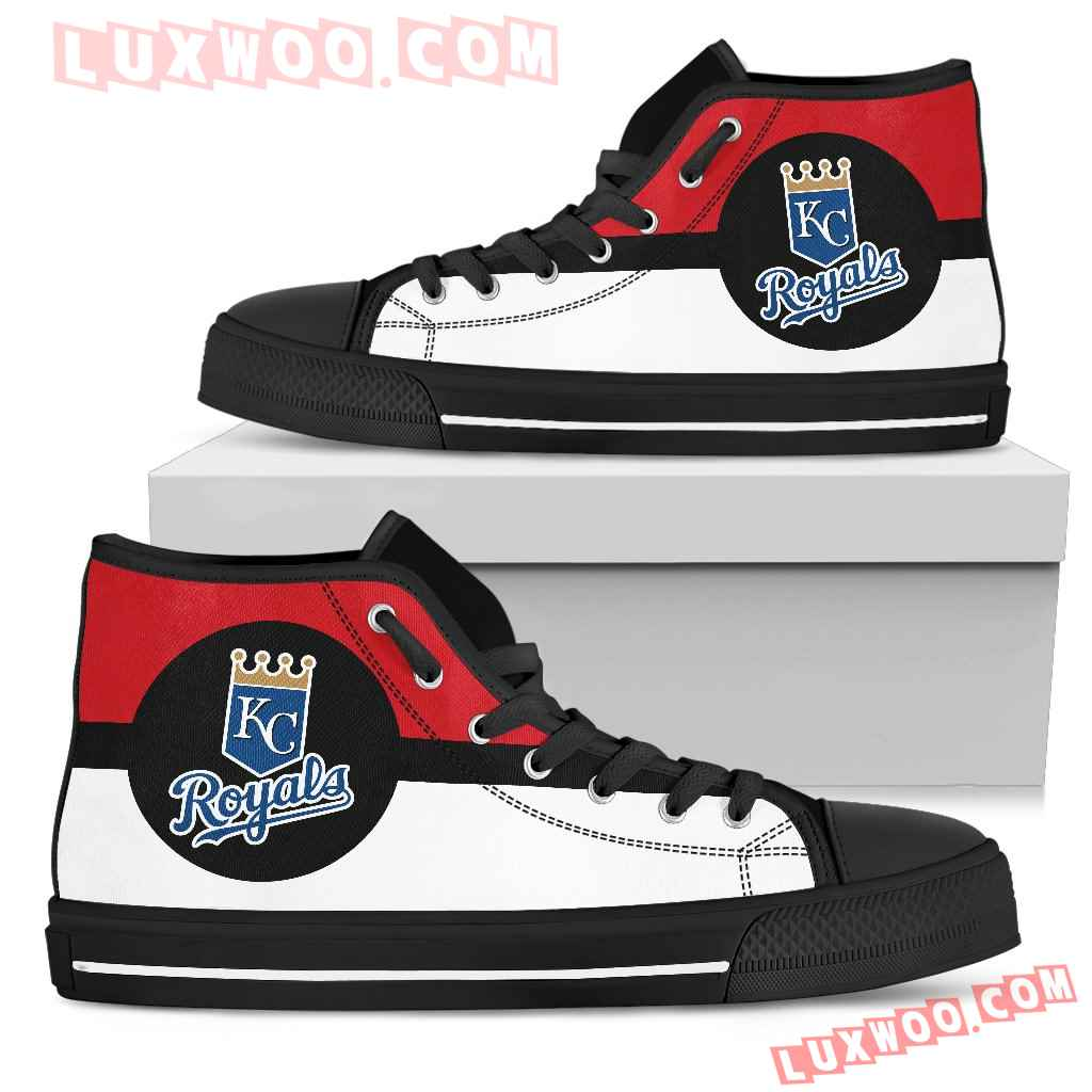 Bright Colours Open Sections Great Logo Kansas City Royals High Top Shoes